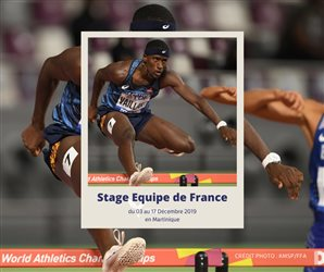 Stage Equipe de France : du 03 au 17 Décembre en Martinique
