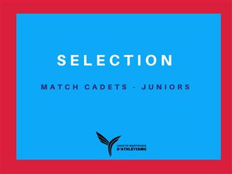 REGROUPEMENT SELECTION MATCH CADETS